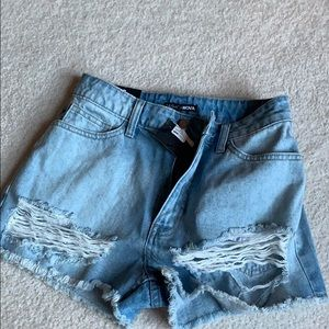 Fashion nova denim shorts